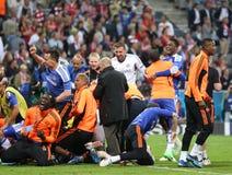 Finale Chelsea Training de ligue de 2012 champions Photos stock