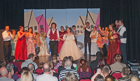 The finale of Cinderella. Finale of the pantomime Cinderella produced by the Merkinch Theatre Group seen on 15th December 2012 at Merkinch in Inverness Stock Photo