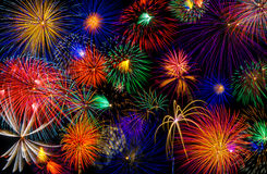 Finale. The Colorful Firework Grand Finale Royalty Free Stock Image