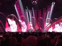 Finale d'Eurovision 2017 sur l'étape de l'Exhib international Images libres de droits