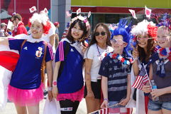 Finale de la Coupe du monde de la FIFA Women's de défenseurs de fan de foot avant 2015 Photos libres de droits