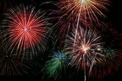 Finale dei fuochi d'artificio Fotografia Stock
