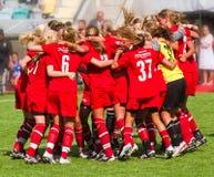 Finale della Coppa 2011 della gioventù del mondo delle donne Fotografie Stock