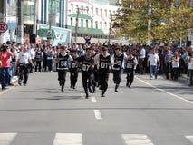 Finale della corsa dei camerieri di Balneario Camborius Fotografie Stock Libere da Diritti