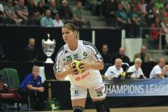 Finale di Champions League di EHF - Viborg HK contro Györ fotografia stock libera da diritti