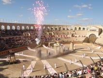 Finale di esposizione del gladiatore Immagine Stock