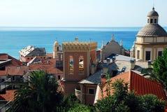 Finale Ligure. A view of Finale Ligure, at the Ligurian coast Stock Images