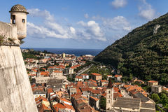 Finale ligure. Landscape panoramic view of finale Stock Photo