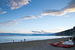 Finale Ligure. The Ligurian town and beaches of Finale Ligure, near Savona, northern Italy Stock Photography