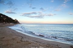 Finale Ligure. The Ligurian town and beaches of Finale Ligure, near Savona, northern Italy Stock Image