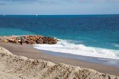 Finale Ligure. The Ligurian town and beaches of Finale Ligure, near Savona, northern Italy Stock Photo