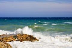 Finale Ligure. The Ligurian town and beaches of Finale Ligure, near Savona, northern Italy Stock Photos