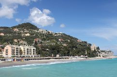 Finale Ligure - seafront Stock Photography