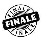 Finale rubber stamp. Grunge design with dust scratches. Effects can be easily removed for a clean, crisp look. Color is easily changed Stock Images