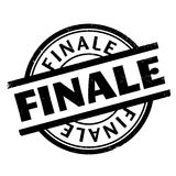 Finale rubber stamp. Grunge design with dust scratches. Effects can be easily removed for a clean, crisp look. Color is easily changed Royalty Free Stock Photography