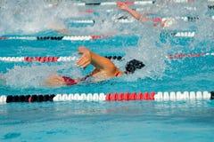 Finales de la nadada Foto de archivo