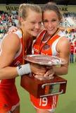 Finales de las mujeres. Taza europea Alemania 2011 del hockey Imagen de archivo