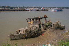 Finales de los botes salvavidases Imagen de archivo libre de regalías