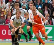 Finales de los hombres. Taza europea Alemania 2011 del hockey Foto de archivo