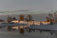 Finales del invierno y de la naturaleza hermosa Foto de archivo libre de regalías