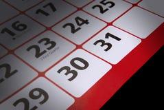 Finales del plazo del mes Imagen de archivo