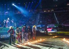 Finales du monde d'équitation de taureau de PBR Image stock