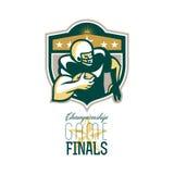 Finales QB de partie du championnat de football américain Photo libre de droits