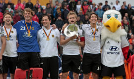 Finali degli uomini. Tazza europea Germania 2011 del hokey Immagini Stock Libere da Diritti