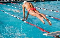 Finali di nuotata Immagini Stock Libere da Diritti