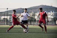 Finali quarti della tazza della roccia di Gibilterra - calcio - punto di europa di europa 2-0 Immagini Stock Libere da Diritti