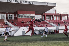 Finali quarti della tazza della roccia di Gibilterra - calcio - punto di europa di europa 2-0 Immagine Stock