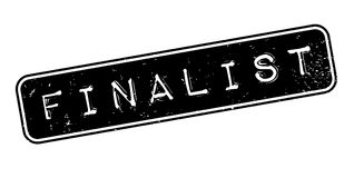 Finalist rubber stamp. Grunge design with dust scratches. Effects can be easily removed for a clean, crisp look. Color is easily changed Stock Photos