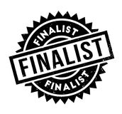Finalist rubber stamp. Grunge design with dust scratches. Effects can be easily removed for a clean, crisp look. Color is easily changed Stock Photo