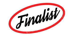 Finalist rubber stamp. Grunge design with dust scratches. Effects can be easily removed for a clean, crisp look. Color is easily changed Stock Images