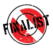 Finalist rubber stamp. Grunge design with dust scratches. Effects can be easily removed for a clean, crisp look. Color is easily changed Royalty Free Stock Images