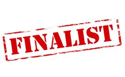 Finalist. Rubber stamp with word finalist inside,  illustration Royalty Free Stock Photography