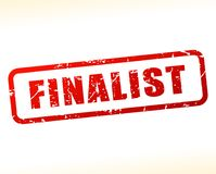 Finalist text buffered on white background. Illustration of finalist text buffered on white background Royalty Free Stock Images