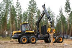 Finalista em Forest Machine Operator Competition Imagem de Stock Royalty Free