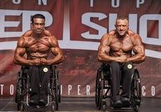 Finalistes Posedown de bodybuilding de fauteuil roulant à Toronto 2018 pro Supershow photo libre de droits
