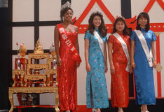 Finalists in the 1994 Miss Asia U.S.A. Stock Photo