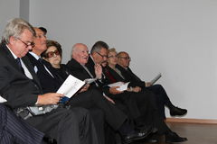 Finalists 30 poetry Tirinnanzi Legnano Italy. Sunday, October 14, 2012 - Legnano, Milan, Italy: The 30° Poetry Prize City of Legnano - Joseph Tirinnanzi and the Stock Photo