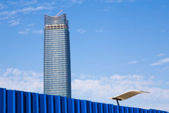 Finalizing construction of a new Shanghai skyscraper Stock Photos