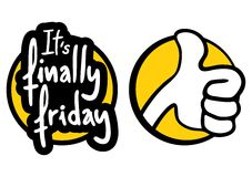 Finally friday. Creative design of finally friday Stock Photography