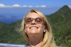 Finally holidays. Happy face close up Royalty Free Stock Image