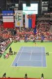 Finals de la Copa 2010 de Davis: 3:2 de Serbia - de Francia Fotos de archivo libres de regalías