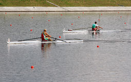 The finals in rowing Stock Photo