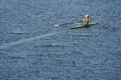 The finals in rowing. Royalty Free Stock Photography