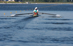 The finals in rowing Royalty Free Stock Photos