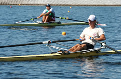 The finals in rowing. Stock Photos