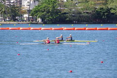 Finals of women double sculls rowing at Rio2016 Royalty Free Stock Photography